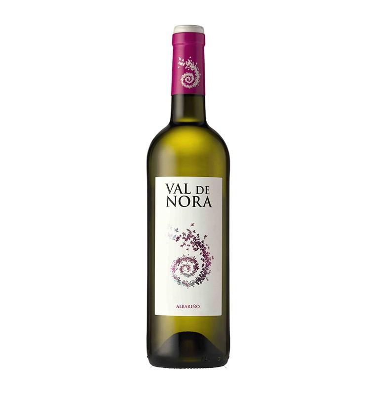 Bouteille de vin blanc Val de Nora 2018, appellation Rias Baixas de Bodegas Vina Nora