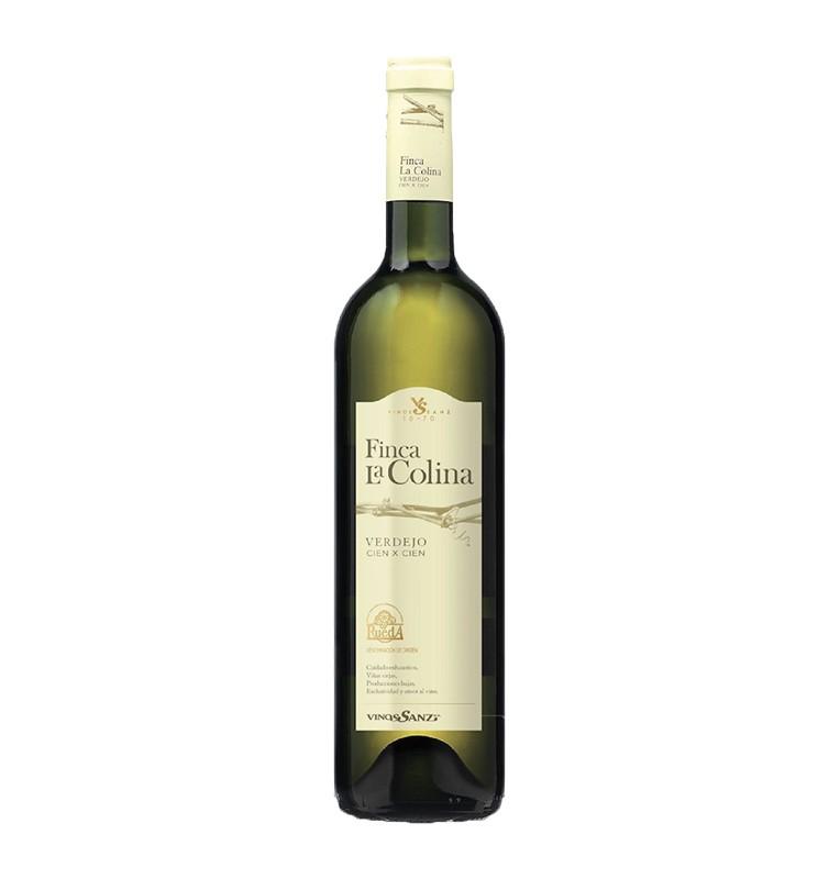 Bouteille de vin blanc Finca la colina cienxcien 2018, appellation Rueda de Bodegas vinos Sanz