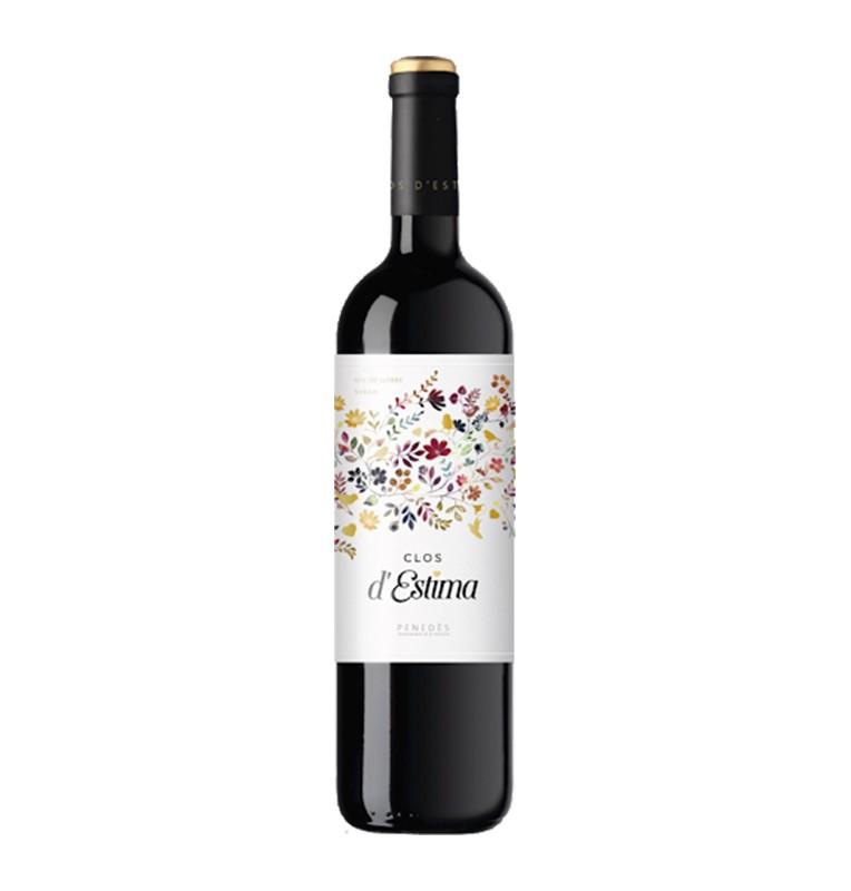 Bouteille de vin rouge Clos d'Estima 2015, appellation Penedès de Cellers Underground