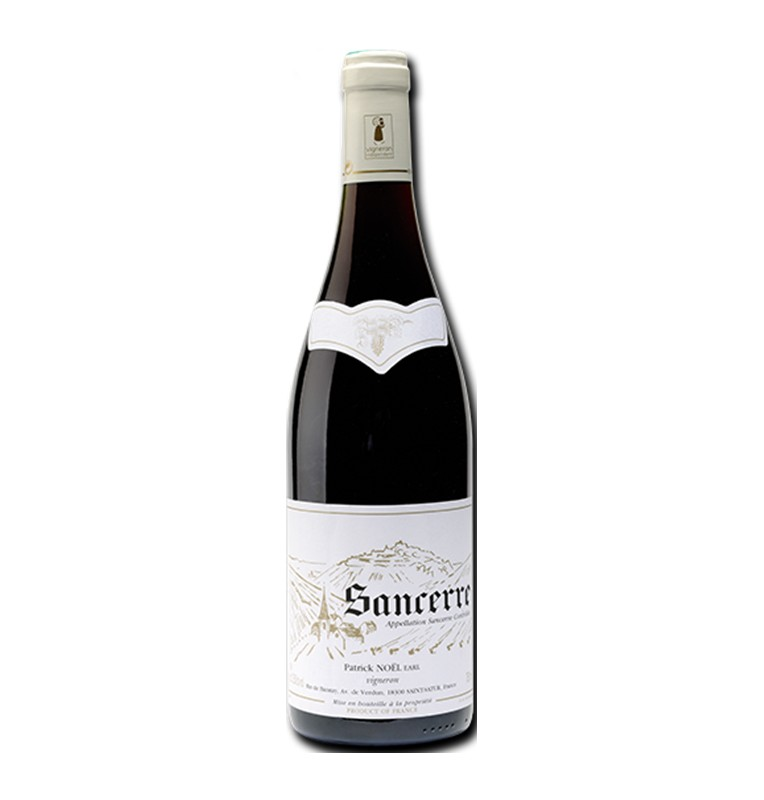 Bouteille de vin rouge appellation Sancerre 2017 de Patrick Noël