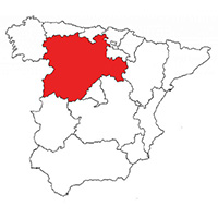 Localisation de l'appellation Vino de la Tierra de Castilla y Leon (Espagne)