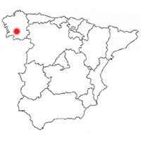 Localisation de l'appellation Ribeira Sacra (Espagne)