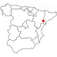 Localisation de l'appellation Terra Alta (Espagne)