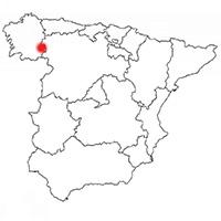 Localisation de l'appellation Valdeorras (Espagne)
