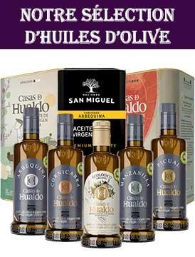 Sélection d'huiles d'olive espagnoles
